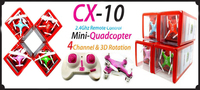 The New electronic Cheerson CX-10 CX10 2.4G Remote Control Toys 4CH 6Axis RC Quadcopter electronic toys mini rc helicopters