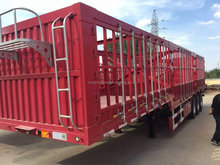 China 3 axles 4 axles Fence Trailer Stake Box Cargo Animal Transport Semi Truck Trailer