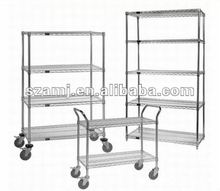 4 Tier High Quality Heavy Duty Chrome Wire Shelving