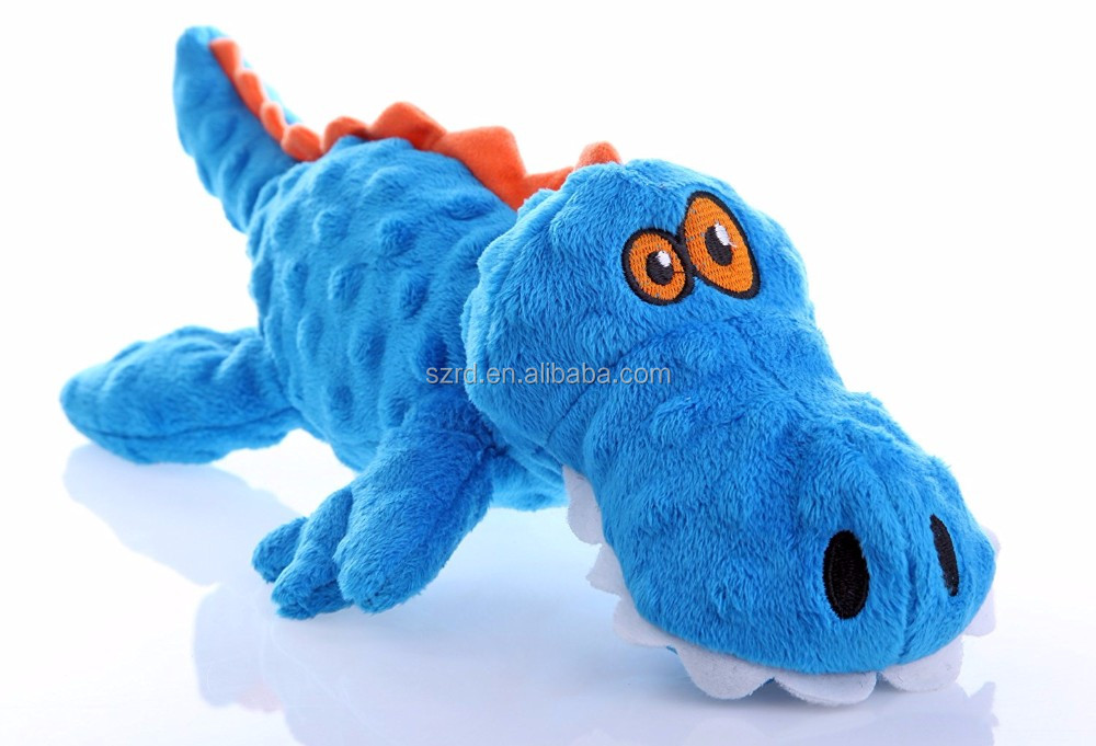 Customized Gators With Chew Guard Technology Tough Plush Dog Toy/plush high quality toy/soft toy made in shenzhen