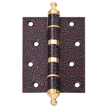 Modern wooden door iron heavy duty hinge for round pipes