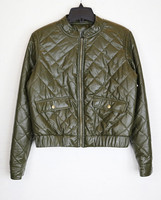 OEM Service Mens Leather Bomber Jacket