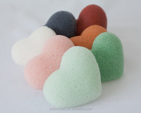 Eco-friendly 100% organic heart shape konjac sponge for facial cleaning