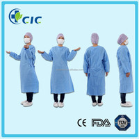 Disposable sterile SMS blue doctor's gown hospital uniform