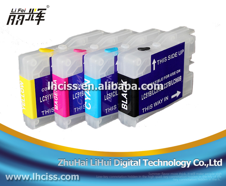 LI FEI LC37 Refill ink cartridge for Brother DCP-153c/155c/157c/ printer made in China
