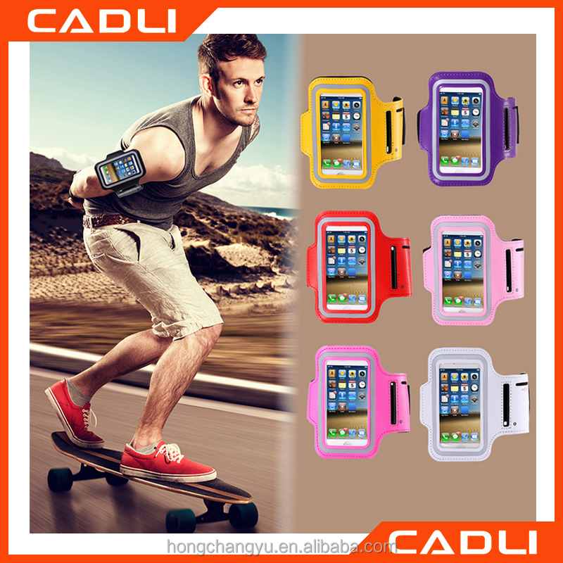 Outdoor Sports Running Armband Leather Case For iphone 6 Plus 5.5inch Workout Waterproof Cellphone Case Cover
