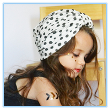 Fashion Stretchy Polka dots Baby headband Infant Turban hat