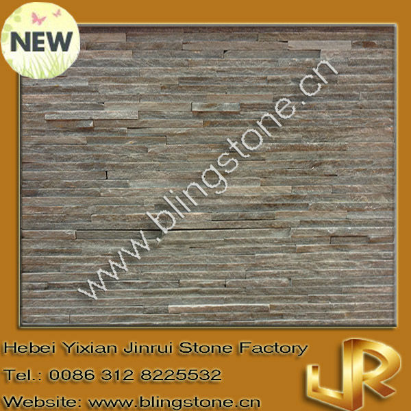 Natural grey stacked stones water streaming slate