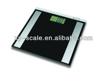 digital body fat analyzing BMI meter scale elegant black