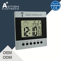 Manufacturer Hotsale Unique Led Clock Radio Controlled