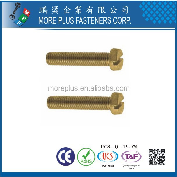 Made in Taiwan High Quality DIN84 Standard Screw M3 Slotted Cheese Head Machine Screws