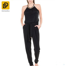 2016 custom nade womens sleevless round neck long pants ski jumpsuits