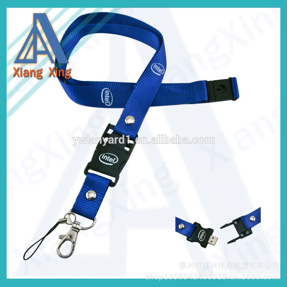 Custom large memory usb flash drive lanyard with logo