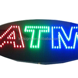 Promotional price acrylic surface ATM letter led open sign/ Electronic ATM signboard