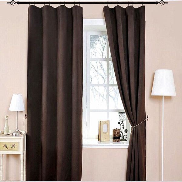 Wholesale Plain fabric curtain with eyelet/grommet