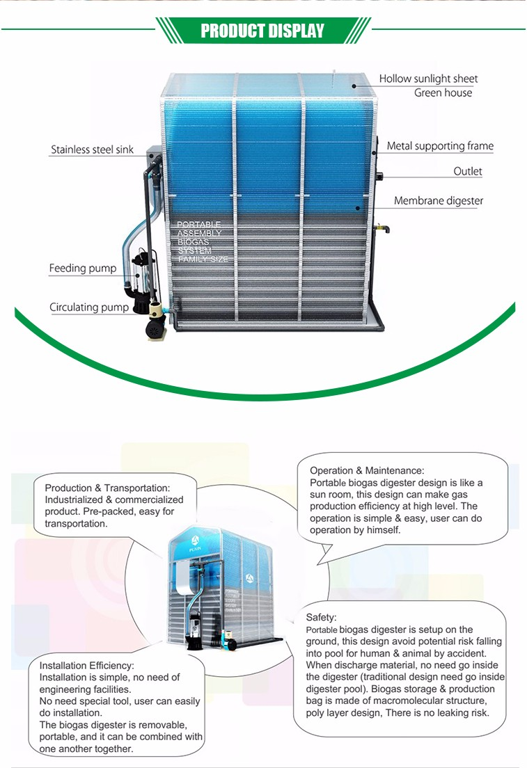 Waste Recycling Household Biogas Generation Plant