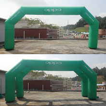 8m double arch 210 D oxford inflatable archway,inflatable arch door for OPPO outdoor promotion