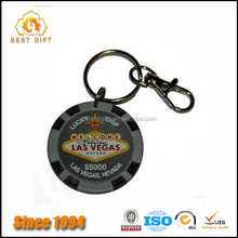 China Factory Direct Supply Personalized Round Shape Printed ,medal Keychain for Hotel