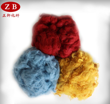 colored polyester staple fiber for needle punched/stitch-bonded nonwoven fabric