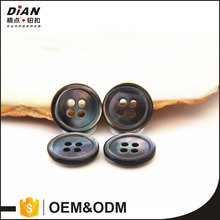 DIAN Natural 4 holes black MOP shell buttons ,mother of pearl sea shells shirt buttons