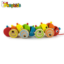 2016 wholesale baby wooden toys drag animals, kids wooden toys drag animals, children baby wooden toys drag animal W05B098