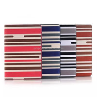 Leather Stripe Wallet Book Case Pouch with card slot For apple ipad MINI 4