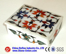 Cheaper design marble stone inlay globe ,High quality stone inlay boxes