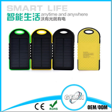 waterproof solar power bank 5000mah mobile power bank 5000mah for mobile phone