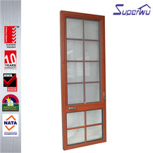 Import aluminium round top design casement window with fixed glass