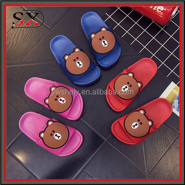 (Stock) kids shoes 2017 baby bib slipper sandal slide for children summer