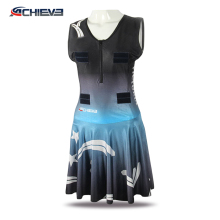 Hot sale sublimation white and black netball skirts
