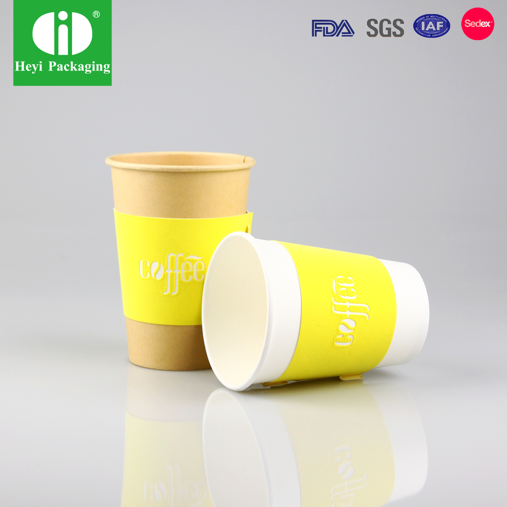 Coffee cup sleeve, coffee cup cover, spoon