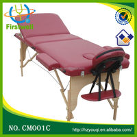 Wooden Salon Beauty treatment bed/ treatment couch portable folding massage table