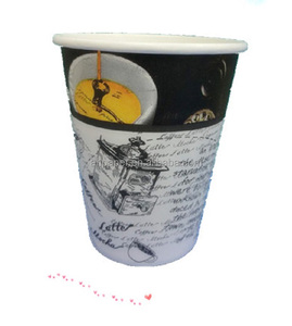 High quality 8oz 12oz &14oz 16oz single wall custom printed disposable paper coffee cups