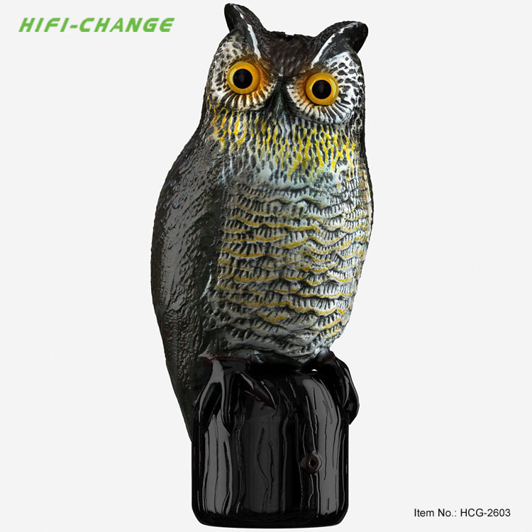 Solar Power Owl Scarecrow Bird Scare Outdoor Garden Animal Repeller