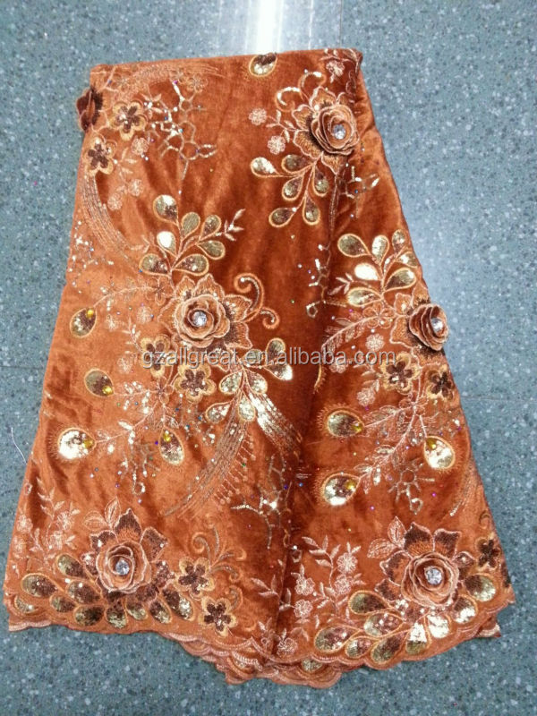 High quality african velvet lace fabric for party