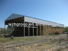 Hay Steel Shed with Open End and Side