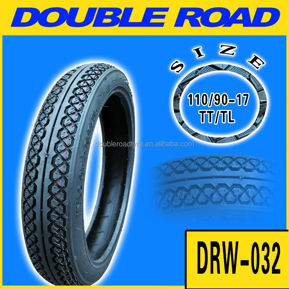 China high quality cheap price 110 / 90 - 17 tires motorcycle
