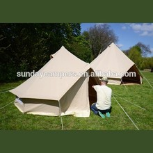 2 person Cotton Canvas Family Camping Bell Tents with Stove Hole