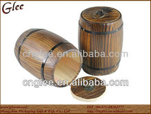 Decorative mini wooden coffee barrels for sale