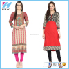 Lady Fashion Clothing Long Sleeve Cotton Kurti Designs