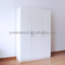 custom made wooden white wardrobe