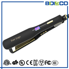 Custom 450 degrees ionic flat iron titanium hair straightener with private label