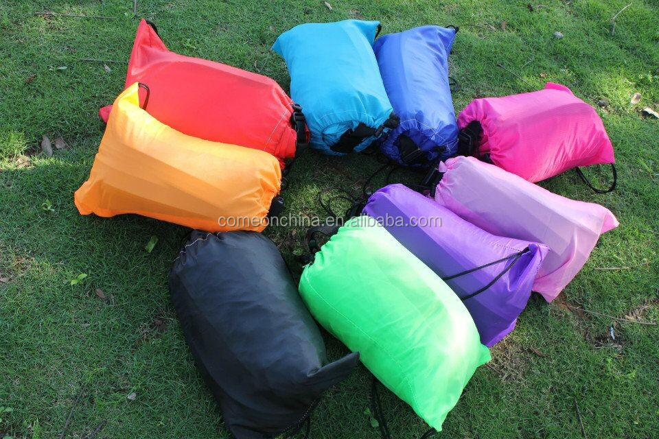 CE Approved portable banana inflatable air sleeping bag sofa