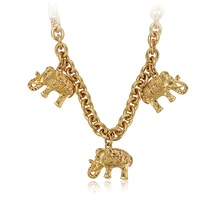 42474 xuping environmental copper custom <strong>necklace</strong>, elephant shape gold plated jewelry <strong>necklace</strong>, 24k gold plated <strong>necklace</strong>