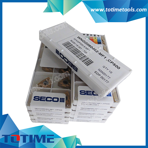 SECO Carbide Inserts for Turning Tools WNMG060402-MF1 CP500
