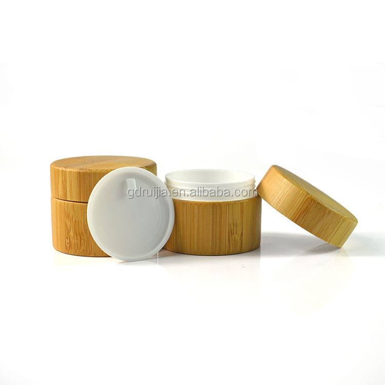 50g bamboo cosmetic container with lids manufacture