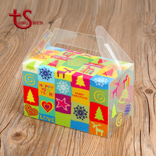 Foldable unlock flat gift transparent packing box