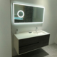47 inch Pedestal Bathroom Vanity in Glossy White, White Man-Made Stone Top, White Corians Sink
