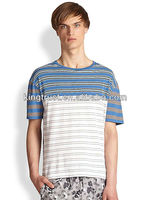 Cheap Cotton Casual Blouse Clothing Striped Yarn Dyed Mens T Shirts Manufacturers In China